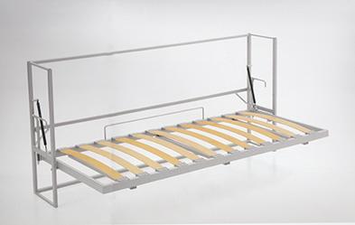 Bokhyllor och Sängskåp 120x200 vit matt med madrass Concept Pro